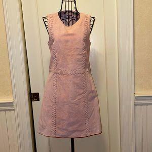 Miss selfridge pink suede dress w stitching NWOT 2